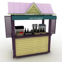 Coffee Shop - High Quality 3d model