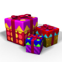 3d model gifts pack clean