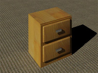 3d wooden locker nickelized