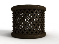 Bamileke Stool - High Quality Furniture 3d model
