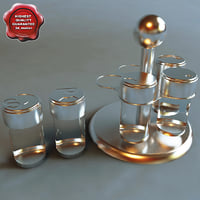 salt pepper shaker 3d obj