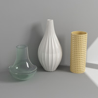 3d decorative vases model