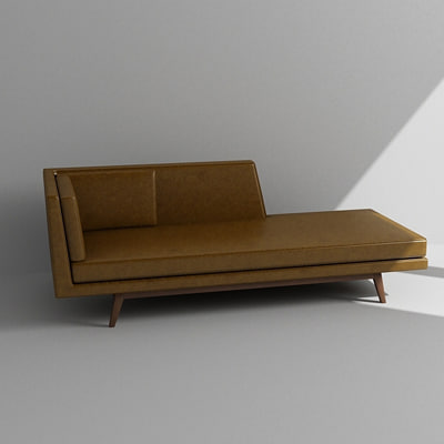 3ds Max Bench Daybed