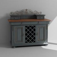 3d model wine cabinet