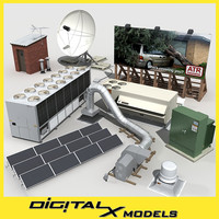 3d rooftop mechanical model