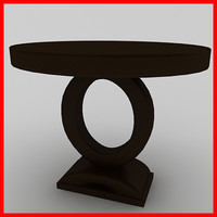 dining room buffet table 3d 3ds