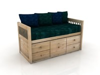 Captains Bed - High Quality Furniture 3d model
