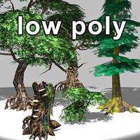 trees fantasy 3d lwo