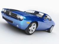 3D Dodge Challenger Low Polygon