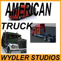 3d model american trucks