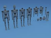 3d model 15 body parts robots