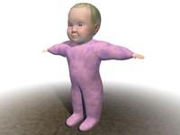baby pajama c4d