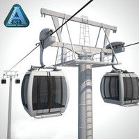 3d cableway cable model