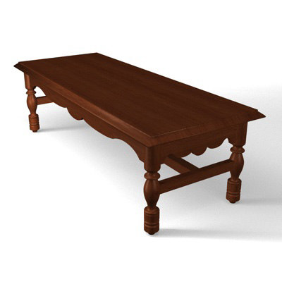 Old Fashioned Coffee Table Fbx