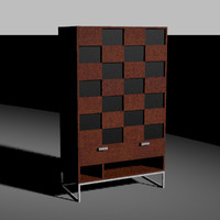 contemporary armoire 3dm
