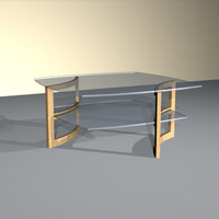 curved frame cocktail table 3d model