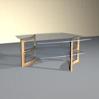 curved frame cocktail table 3d model