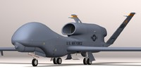 rq-4a global hawk uav 3d model