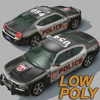 dodge city car police 3d model