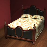 leather bed cameo 3dm