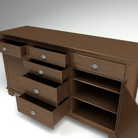 3d piece furniture model