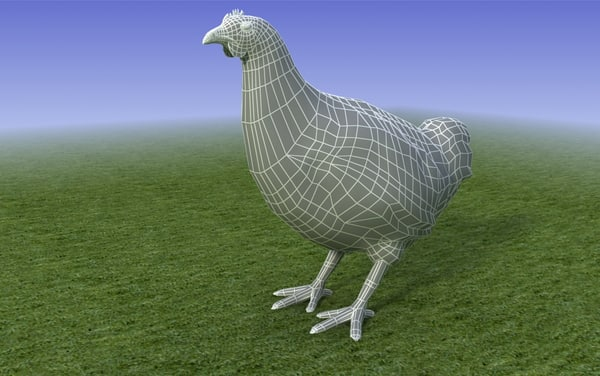 maya brown chicken - Brown Chicken_3D Model... by ruli_castle