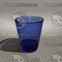 3d model cobalt blue shotglass