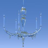 3d model crystal light