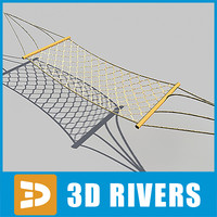 rope hammock 3d model