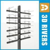 3dsmax overhead power line