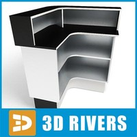 salon reception desk 01 3d max