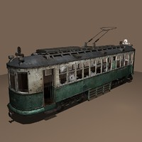 Destroyed Streetcar