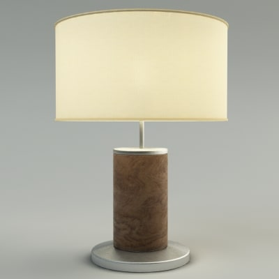3ds max table lamp With lamp light vray