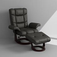 3ds max armchair footrest