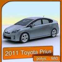 2011 toyota prius 3d model