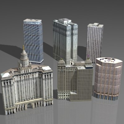 3d Model Skyscrapers 3d Skyscraper House Model