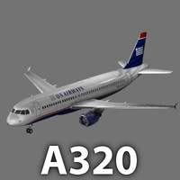 Airbus A320 US Airways model