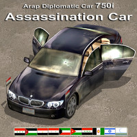 3d model of assassination diplomatic car luxury
