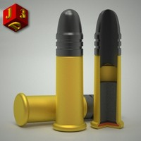 22 rifle cartridge 3d dxf