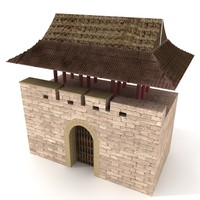 castle architectural 3d 3ds