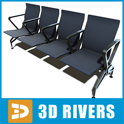 Airport seats low-poly by 3DRivers