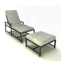 3d lounger patio furniture model