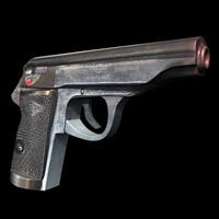 3d model handgun gun pistols