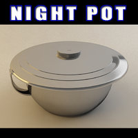 3d model night pot