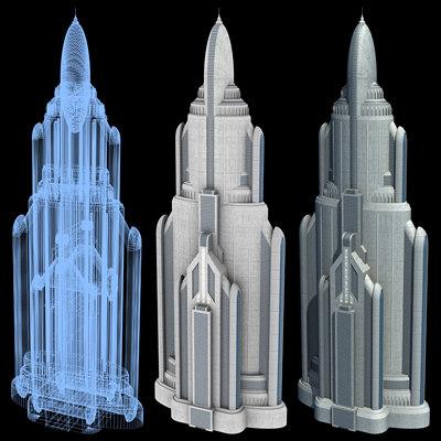 Sci-Fi Buildings - Series 1: Super Skyscraper 3