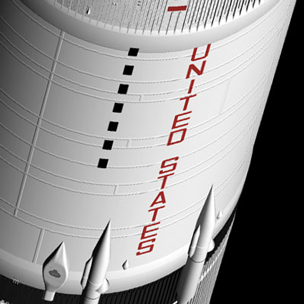 saturn v apollo spacecraft 3d model - Saturn Apollo... by ...