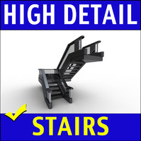Staircase Commercial 3D Model