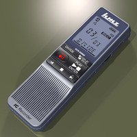 digital voice recorder 3d model