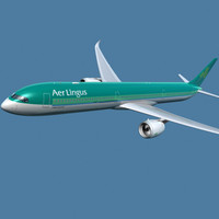 a350-1000 aer lingus 3d model
