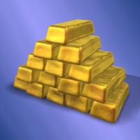 gold pile materials 3d max